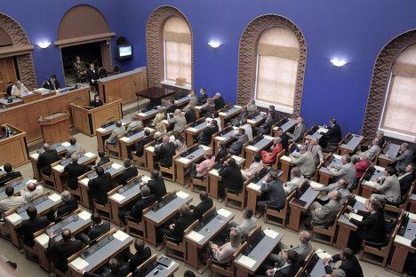 голосование по выборам президента страны в парламенте Эстонии