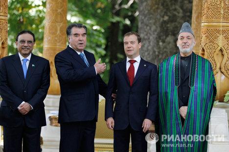 Встреча президентов России, Таджикистана, Пакистана, Афганистана