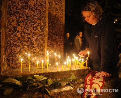 Жители Ярославля почтили память погибших хоккеистов