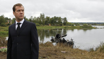 Д.Медведев прибыл в Ярославль