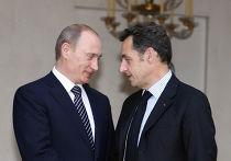 Владимир Путин и Николя Саркози
