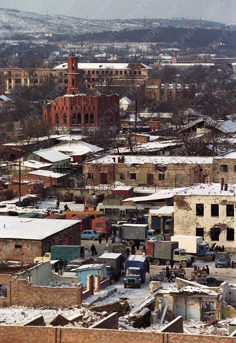 Центр Грозного в 2003 году