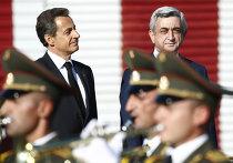 Николя Саркози прибыл с визитом в Армению
