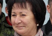 Кандидат в президенты Южной Осетии Алла Джиоева после голосования на одном из избирательных участков