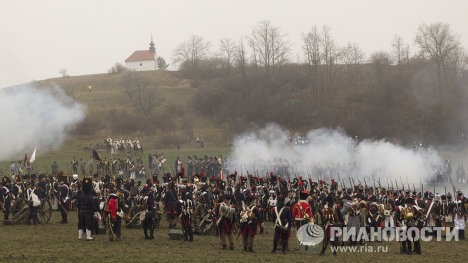 Реконструкция битвы при Аустерлице в Чехии