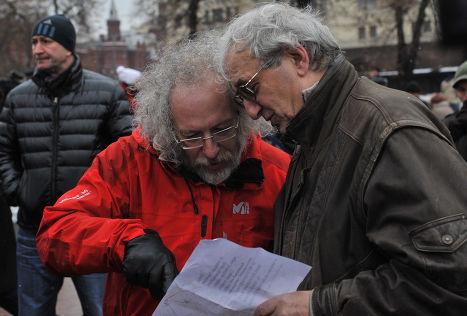 Алексей Венедиктов на Площади Революции