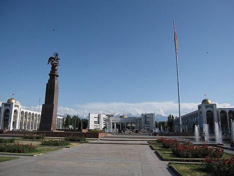 Площадь Ала-Тоо в Бишкеке (бывш. Площадь Ленина), 2009 г.