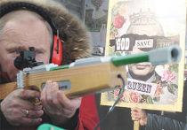 Путин и митингующие