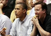 Обама и Кэмерон провели вечер в Огайо, на баскетбольном матче
