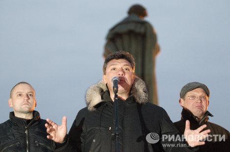 Сергей Удальцов, Борис Немцов и Владимир Рыжков