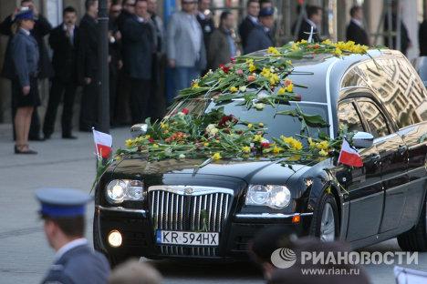 Похороны президента Польши прошли в Кракове