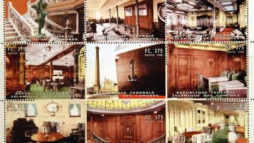"""Памятные марки, выпущенные на Коморских островах по случаю годовщины катастрофы """"Титаника"""""""