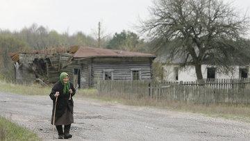 Жители деревни Тульговичи в зоне отчуждения Чернобыльской АЭС