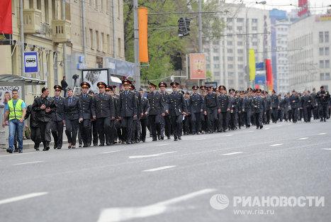 """Подготовка к """"Маршу миллионов"""" в Москве"""