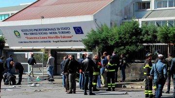 В итальянском Бриндизи перед лицеем прогремел взрыв