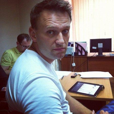 Навальный в ОВД репортер