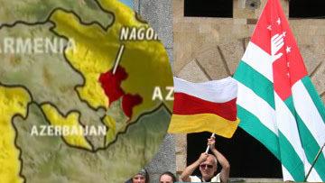 Абхазия, Южная Осетия и Нагорный Карабах