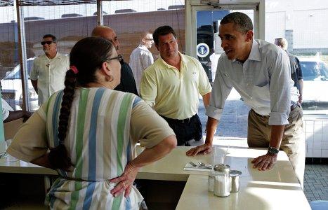 Барак Обама в ресторане Anns Place