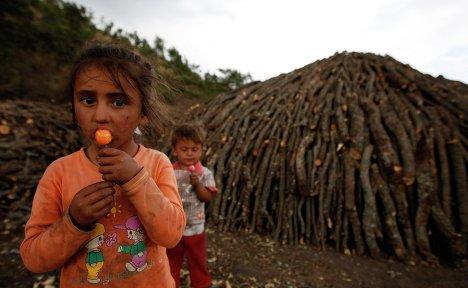 Дети в городе Кызылджахамам, Турция