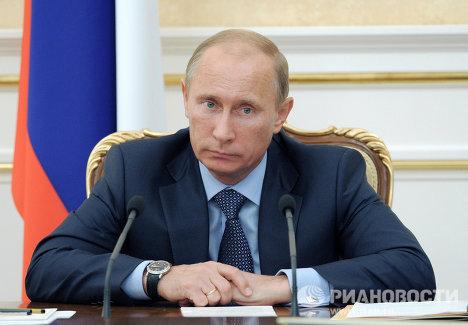 В.Путин проводит заседание президиума правительства РФ