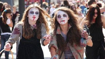 Парад зомби в Нижнем Новгороде