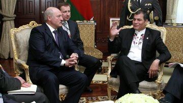 Встреча Александра Лукашенко и Рафаэля Корреа