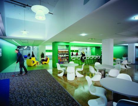 Микрокухня в нью-йоркском офисе Google