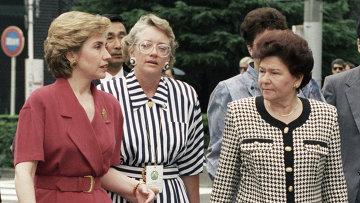 Хиллари Клинтон и Наина Ельцина