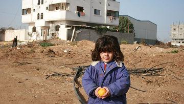 Ребенок на территории Сектора Газа