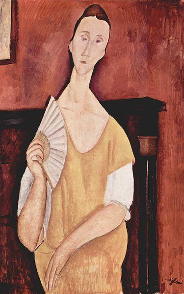 Картина Амедео Модильяни «Женщина с веером»