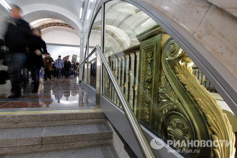 """Открытие перехода на станции метро """"Белорусская"""" в Москве"""