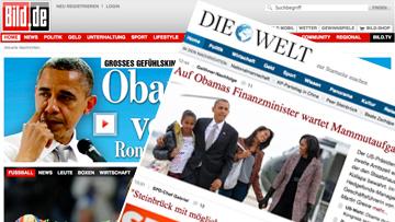 Газеты  «Welt» и «Bild»