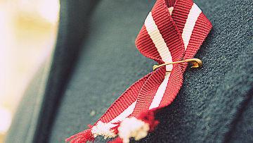 Лента цвета латвийского флага