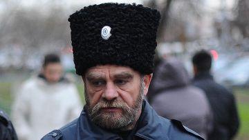 Участник казачьей дружины в Москве