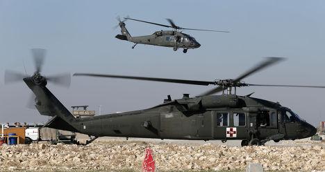 Вертолет ВВС США  Blackhawk