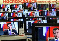 Трансляция интервью Д.Медведева российским телеканалам