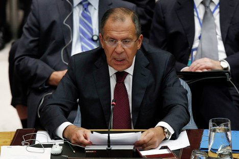 Глава МИД РФ Сергей Лавров на министерском заседании Совета Безопасности ООН по Ближнему Востоку