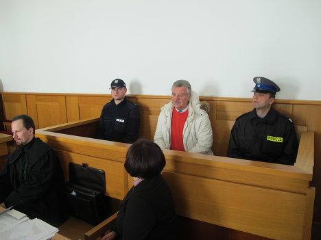 Александр Игнатенко в окружном суде польского города Новы-Сонч во время рассмотрения дела об экстрадиции экс-прокурора в Россию 8 февраля 2012 года