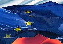 Флаги России и Евросоюза