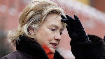 Госсекретарь США Хиллари Клинтон возложила цветы к могиле Неизвестного солдата в Москве