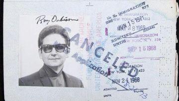 Паспорт Роя Орбисона, американского музыканта
