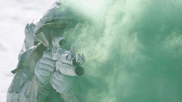 Американский морской пехотинец на учениях в Южной Корее