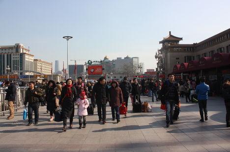 Площадь в одном из городов Китая