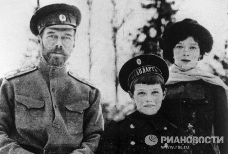 Николай, Алексей и Мария Романовы