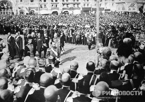 Церемония приветствия Российского императора Николая II