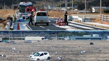 Фукусима, Минамисома, 2012 год (вверху) / 2013 год (внизу)