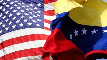 Флаги США и Венесуэлы