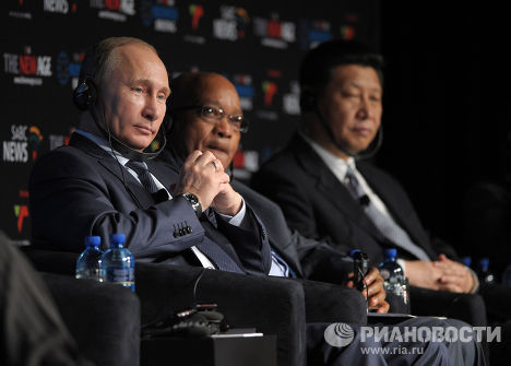 Владимир Путин принимает участие в саммите БРИКС