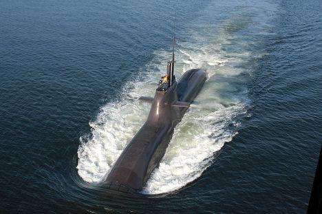 Подводная немецкая  лодка типа 212