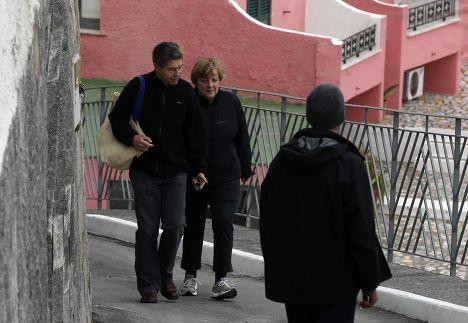 Ангела Меркель с мужем Иоахимом Зауэром
